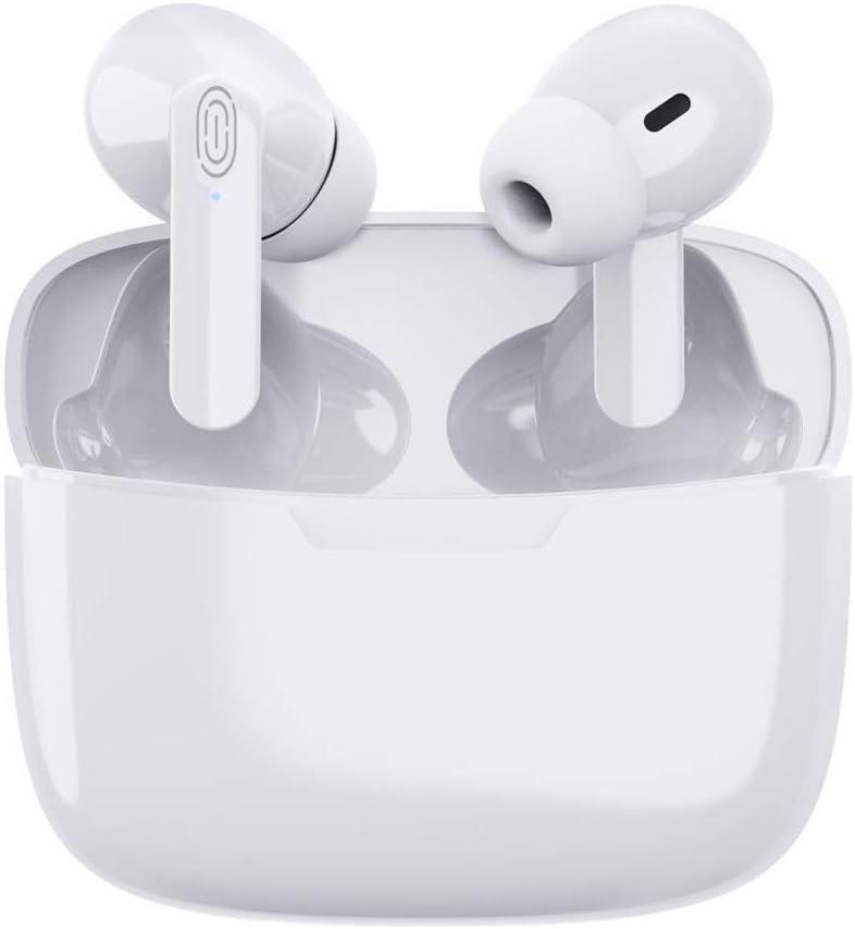 Auriculares Inalámbricos Auriculares Bluetooth con Estuche de Carga Auriculares Estéreo 3D con Cancelación de Ruido Micrófono Interno Integrado para iPhone/Android/Apple AirPods Pro