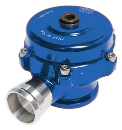 TiAL QR Recirculating Blow Off Valve - 11 psi (yellow) spring, Blue Body, AL Flange, 1.14