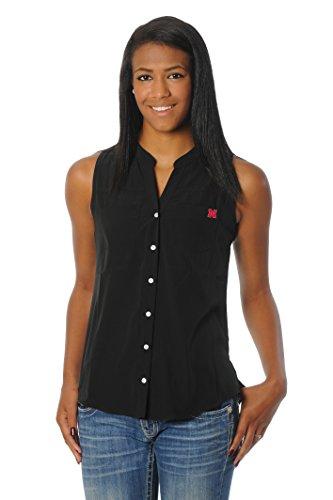 UG Apparel NCAA Nebraska Cornhuskers Women's Tunic Tank Top, X-Large, Black Nebraska Huskers Golf