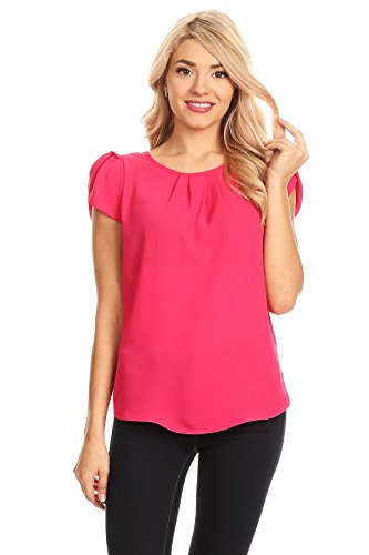 April Apparel Women's Basic TOP (Medium, Bright Rose)