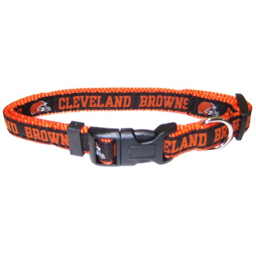 Pets First NFL Cleveland Browns Collar, Large, My Pet Supplies