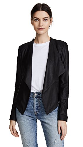 BB Dakota Women's Siena Soft Leather Jacket, Black, - Womens Jacket Nubuck