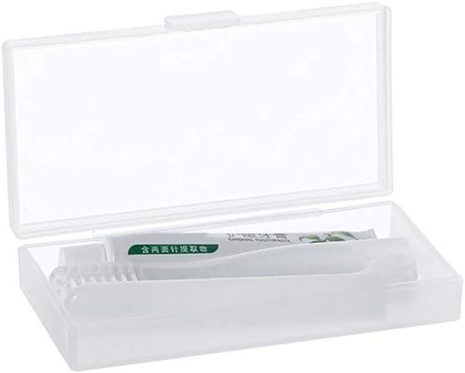 Gwxevce Kit de Pasta Dental de Viaje con Cepillo de Dientes Plegable Adultos, con Estuche Transparente para el Cuidado de la Boca: Amazon.es: Hogar