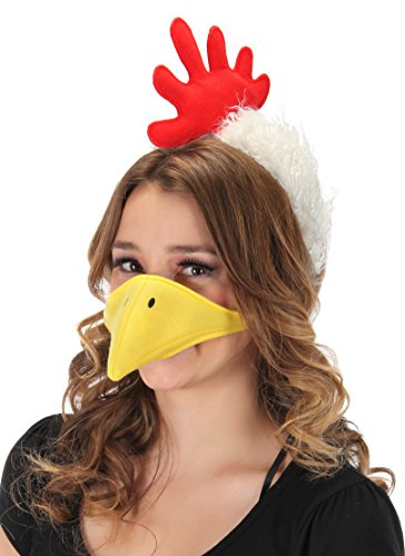 elope Chicken Costume Plush Headband and Beak Kit - http://coolthings.us