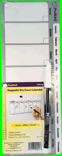 Weekly Magnetic Dry Erase Calendar Magnets - 32 ct