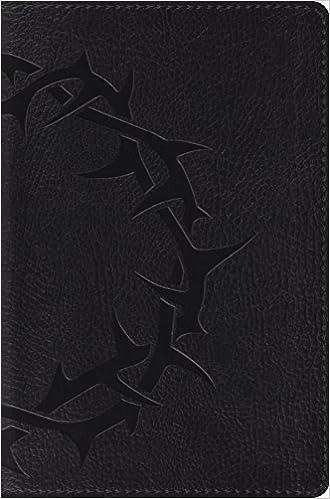 Esv Compact Bible Trutone Charcoal Crown Design Esv Bibles By