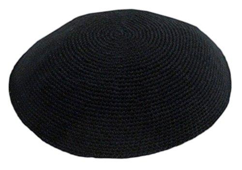 (Black All Size Hand Made 100% Cotton Yarmulke Jewish Kippah Kipa Judaica Yamaka Kippa Yamakah Yarmulka Hat Men Or Kids (12CM 4.7INCH))