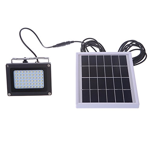 LIYUDL 54LED Solar Powered Floodlight Spotlight, Outdoor Security Floodlight, 400 Lumen, IP65 Waterproof, Auto-induction for Home, Garden, Lawn, Pool