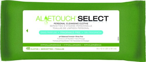 Aloe Touch WIPE, ALOETOUCH, FRAG FREE, 8X12, 48/PK - 12 Pack