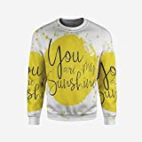 iPrint Men's Crewneck Floral Pullover Sweater
