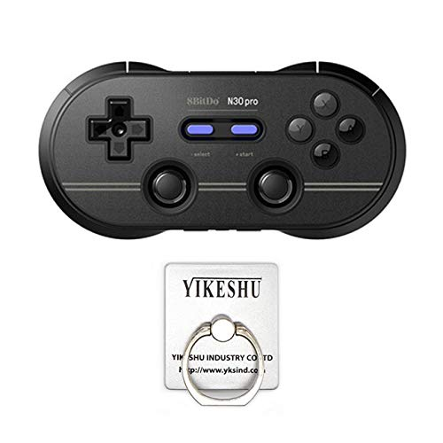(8Bitdo N30 Pro 2 Game Controller with Joysticks Rumble Vibration USB-C Cable Gamepad for Windows, Mac OS, Android, Steam and More (BK))
