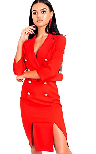 Bethany Red Robe Blazer Womens Ikrush Midi 5wCfUq7UX