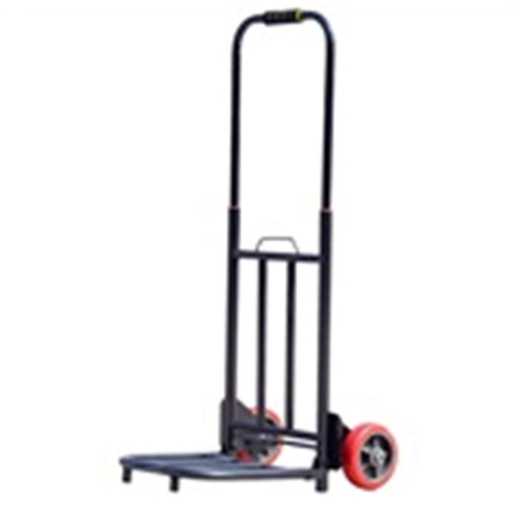 KTYXDE Trolley Household Folding Portable Mute Trolley Car Shopping Cart Luggage Car Telescopic Type Can Bear 75kg Trolley (Color : A) by KTYXDE