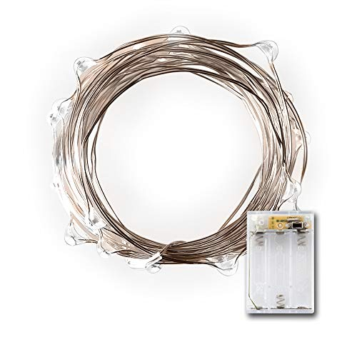 LIDORE Micro 20 Cold White LED string lights Timer version. Battery operated 7 Feet Long Ultra thin sliver copper wire. Best ambiance lighting for outdoor and indoor party decoration