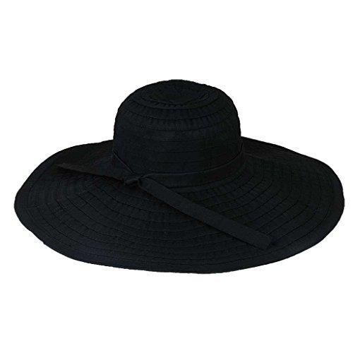 - Ribbon Crusher Travel Hat - 5 inch brim - HS358 (Black)