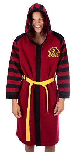 Bioworld Harry Potter Gryffindor House Costume Sleep Bath Robe (Small/Medium) Red -