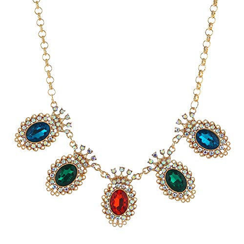 Vielgluck Pearl Necklace Costume Jewelry for Women, 2019 Hot Crystal Chunky Collar Statement Jewelry Party Dress Pendant Gift for Her
