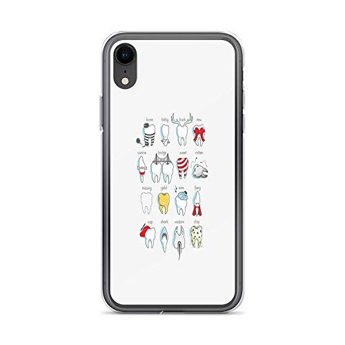 iPhone XR Case Clear Anti-Scratch Dental Definitions Cover Phone Cases for iPhone XR, Crystal -