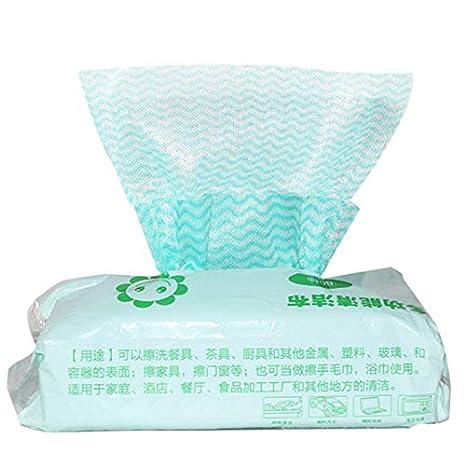 bqlove Toallas de Limpieza Multiusos Desechables, no Tejidas, Reutilizables, antiadherentes, para la