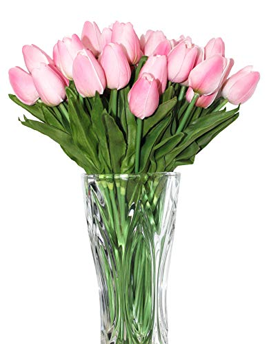 ALIERSA En Ge 10-Heads Home Deocr Mini Tulip Real Touch Tulip Artificial Flowers Bouquets -