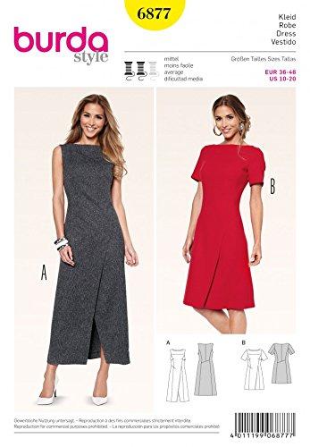 Patrón de costura para traje de neopreno para mujer Burda 6877 - patrones de costura para