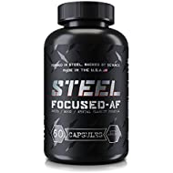 Steel Supplements Focused-AF Limitless Nootropic Brain Function Enhancer Pill with Vitamin B6 & B12 for Increased Mental Clarity & Mood 60 Capsules