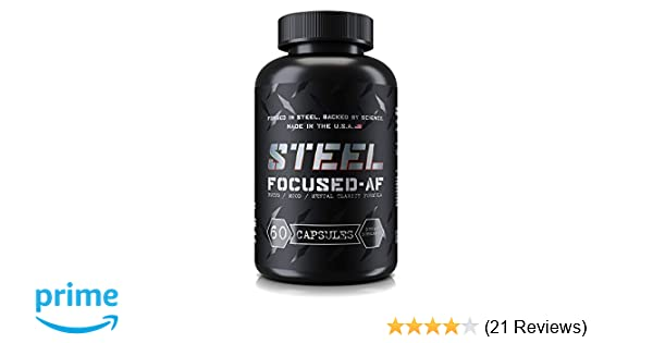 Amazon Com Steel Supplements Focused Af Limitless Nootropic Brain
