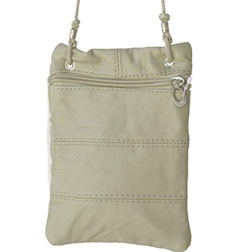 Cream Travel Silver Crossbody Bag Fever Pasport Leather YgUq7