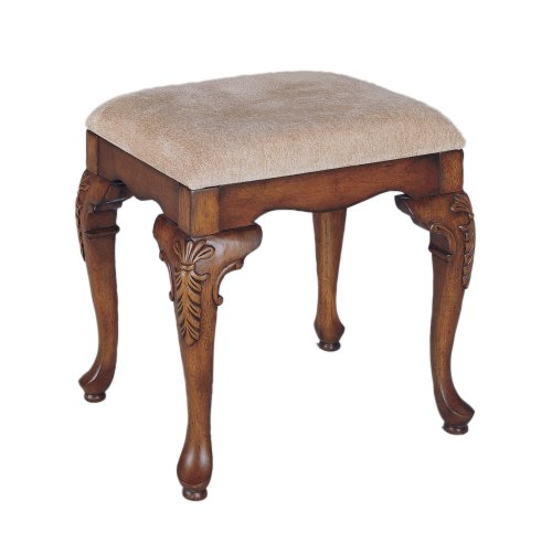 Queen Anne Upholstered Bench - 1