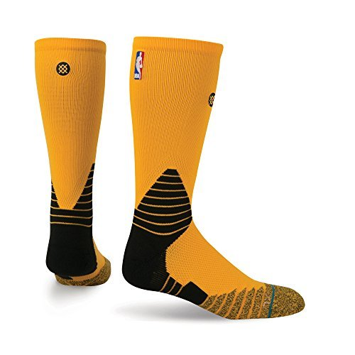 Stance NBA Solid Yellow On Court Fusion Basketball Sock 559 medium {6-8.5} by Stance