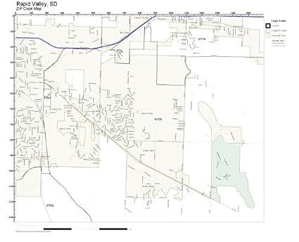 Amazon.com: ZIP Code Wall Map of Rapid Valley, SD ZIP Code Map ...