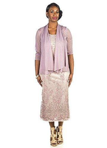 R&M Richards Women's Floral Lace Jacket Dress- Mother of ...