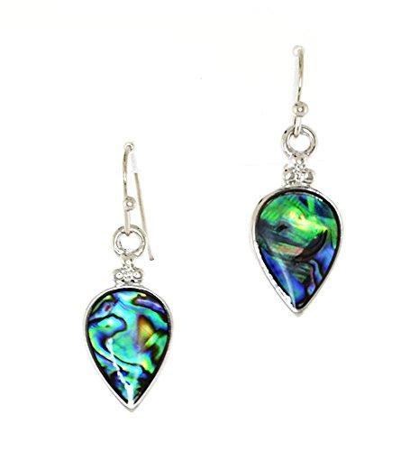 Abalone Pearl Hook Earrings - Abalone Shell (Mother of Pearl) Fish Hook Earrings - Tear Drop