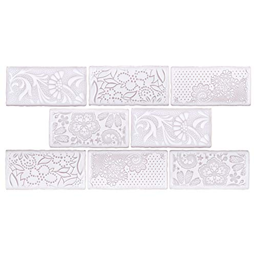 SomerTile WCVAFM Antigue Feelings Milk Ceramic Wall Tile, 3