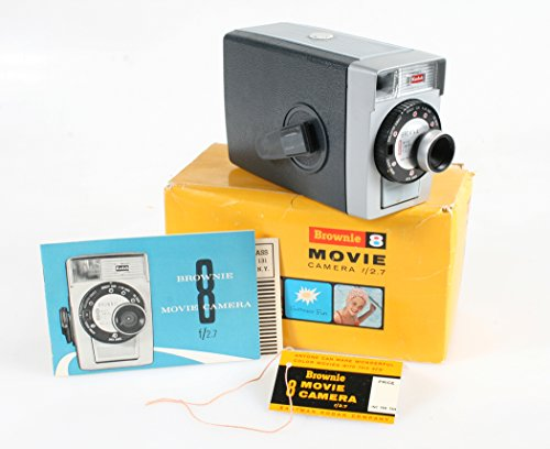 KODAK BROWNIE 8 MOVIE CAMERA IN ORIGINAL BOX WITH INSTRUCTION