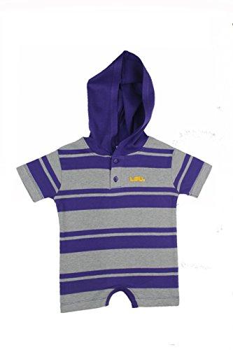 Striped Lsu Shirt Tigers (LSU Tigers Hooded Striped Cotton Romper (Purple))