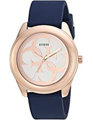 GUESS Womens Stainless Steel Silicone Casual Watch, Color: Blue (Model: U0911L6)