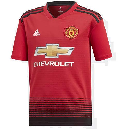 adidas World Cup Soccer Manchester United Soccer Youth Manchester United FC Home Jersey, Large, Real Red