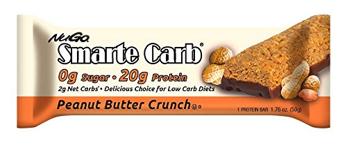 (NuGo Smarte Carb Bar, Sugar free Peanut Butter Crunch, 1.76-Ounce Bars (Pack of 12))