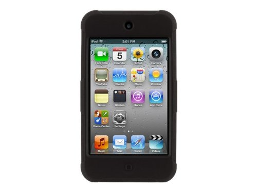 Griffin Survivor Skin for iPod touch (4th gen.), black - 6-foot drop protection in a silicone skin.