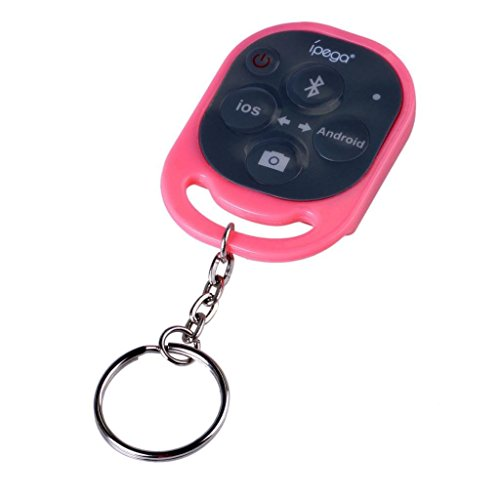 abcGOODefg® Ipega Bluetooth Remote Control Camera Photo Shutter Release for Apple iPhone 6 6Plus 5S 5C 5 4S 4 ipad 5 4 3 2 ipad mini ipad Air ipod Samsung Galaxy S4 S3 S2 Note 3 2 Sony xperia z HTC ONE Smartphones Tablets Pink