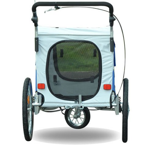 Aosom Elite II Pet Dog Bike Bicycle Trailer Stroller Jogger w/ Suspension - Blue by Aosom (Image #4)