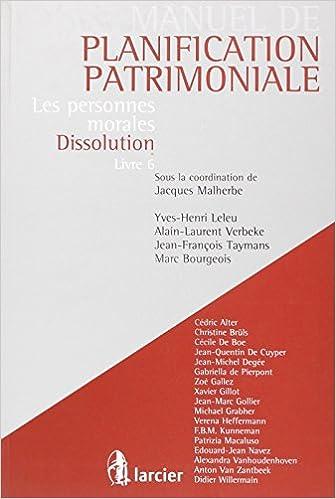 Livres Les personnes morales-dissolution : Volume 6 pdf