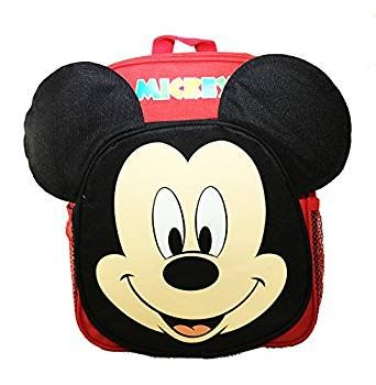 33f77d91dfd Image Unavailable. Image not available for. Color  New Disney Mickey Mouse  Face Ears 12 quot  Small Backpack Book Bag for Kids