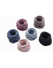 Elastic Hair Rope, Nylon Hair Ties Set, Universal for Girls Women Kids, 50 Pieces