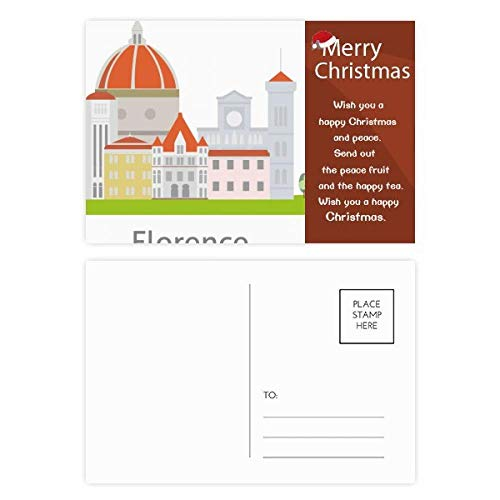Italy Florence Landscape National Pattern Christmas Message Postcard Card 20pcs ()