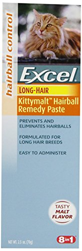 Excel Hairball Remedy for Long-Haired Cats, Malt Flavor, 2.5-Ounce