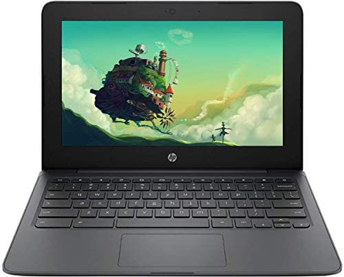 "2021 Newest HP Chromebook 11.6"" HD Laptop for Business and Student, Intel Celeron N3350, 4GB RAM, 32GB eMMC, Webcam, USB-A&C, WiFi , Bluetooth, Chrome OS,w/ 64GB SD Card,GM Accessories"