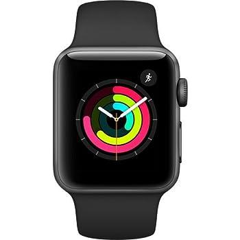 Apple Watch Series 3 (GPS) 38mm Smartwatch (Space Gray Aluminum Case, Black Sport Band)