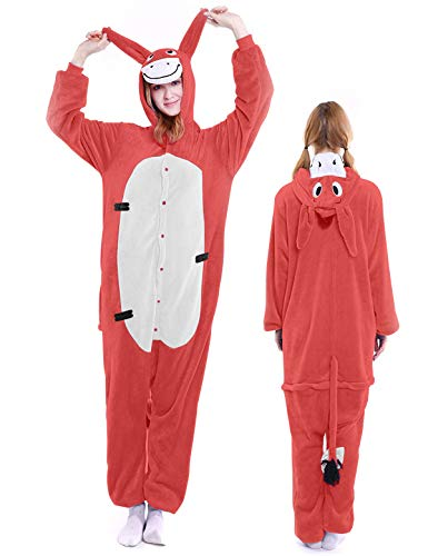 Eeyore Onesie Adult Pajamas Kigurumi Costume Halloween Xmas Outfit for Women Men